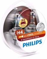 Лампа PHILIPS H4-12-55 +130% X-TREME VISION G-FORCE набор 2шт