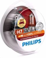 Лампа PHILIPS H7-12-55 +130% X-TREME VISION G-FORCE набор 2шт