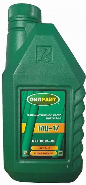 Масло OIL RIGHT ТАД-17 80W-90 GL-5  1л